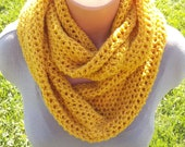 Autumn Yellow Infinity Scarf
