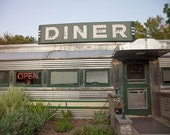Roadside Diner photo, vintage, Americana, Country Diner - 8x10 fine art photograph - pixamatic