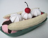 Felt Food Banana Split - FiddledeeDeeCraft