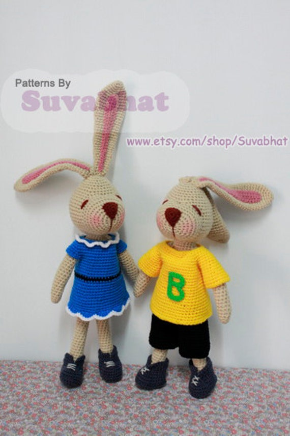 Buddy Rabbit: Crochet Pattern (PDF)