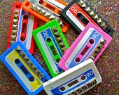 Custom Studded Silicone Iphone 4 Case Cassette Phone Cover