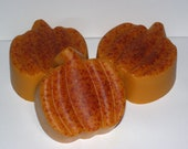 Pumpkin Spice Pumpkin Soap- Handmade Organic Soap - All Natural Vegan Orange Pumpkin Soap - Halloween & Fall Soap - HopesSoap