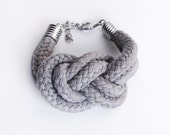 Sailor Knot - Cotton Rope Bracelet in grey