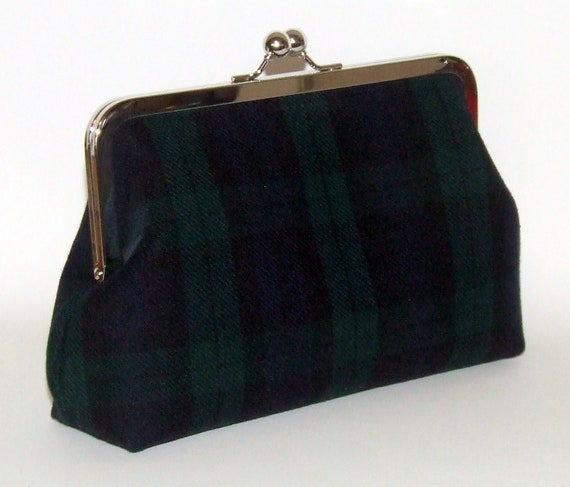 Wool Clutch - Pendleton Black Watch Tartan Plaid