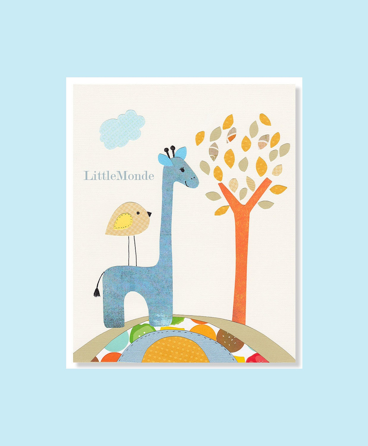 Baby Boy Decor Zoo Nursery Prints Giraffe Nursery by LittleMonde