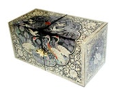 Lacquer ware inlaid new mother of pearl handcrafted jewelry case,jewel box trinket box Ten Symbols Of Longevity Design
