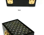 Lacquer ware inlaid new mother of pearl handcrafted jewelry case,jewel box trinket box with flower  Design
