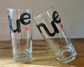 Recycled Drinking Glasses by ConversationGlass on UpcycleFever