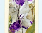 Original Encaustic Artcard CANCER RESEARCH DONATION  by studiosabine