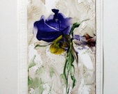 Original Encaustic Artcard floral CANCER RESEARCH DONATION StudioSabine