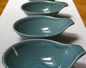 Russel Wright American Modern Seafoam Green Lugged Fruit/Dessert Bowl by Steubenville - JosChinaShop
