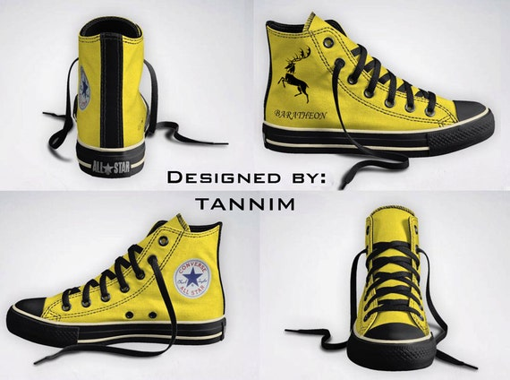 Custom Game of Thrones: House Baratheon Converse Chucks