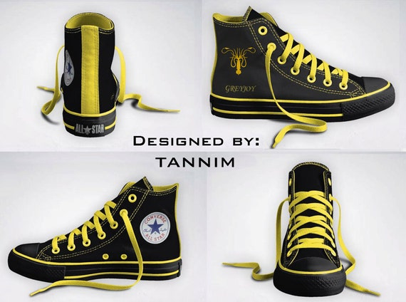 Custom Game of Thrones: House Greyjoy Converse Chucks