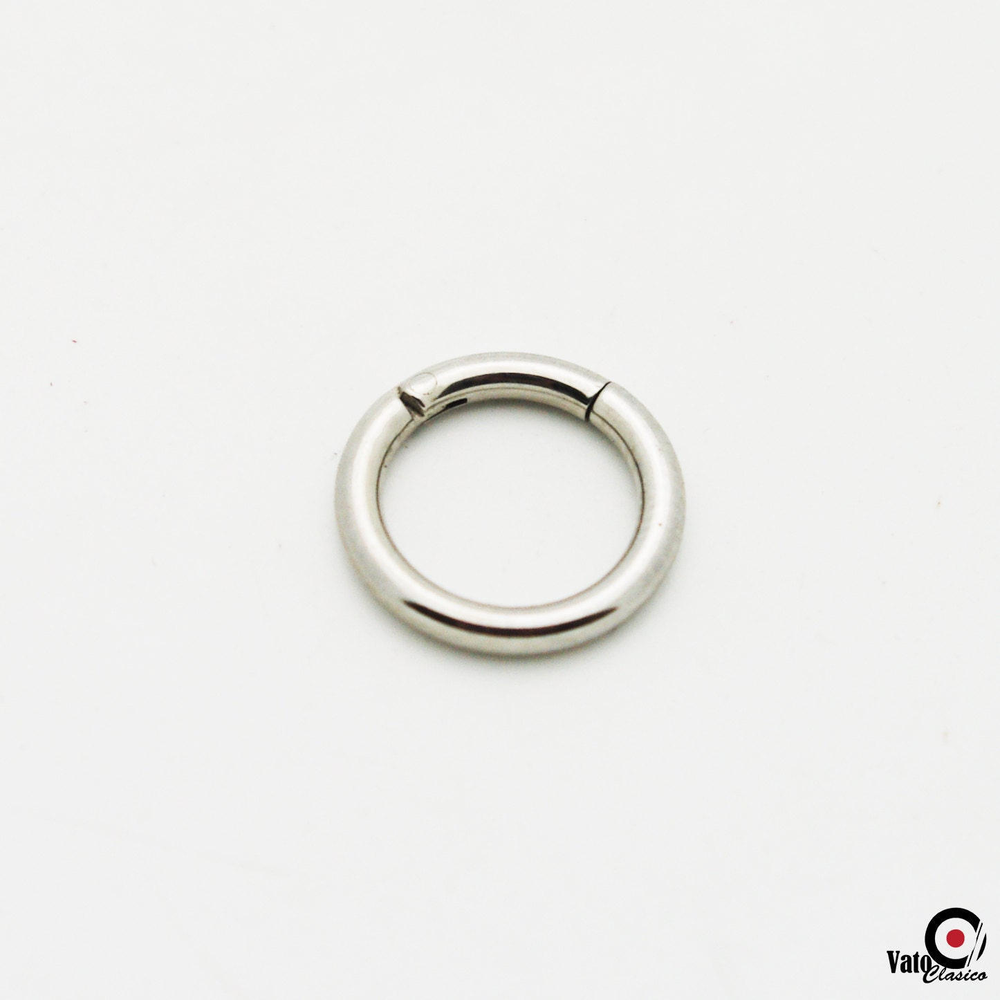 Septum Rings on 14 Gauge High Polished Steel Clicker Septum Ring By  title=