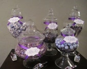 Purple Wedding Candy Buffet Accessories