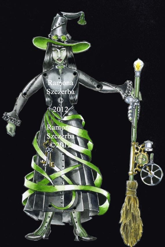 Gothic Wicked Witch Jointed Doll Digital Download