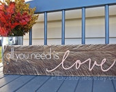 All You Need is Love Reclaimed Wood Plank