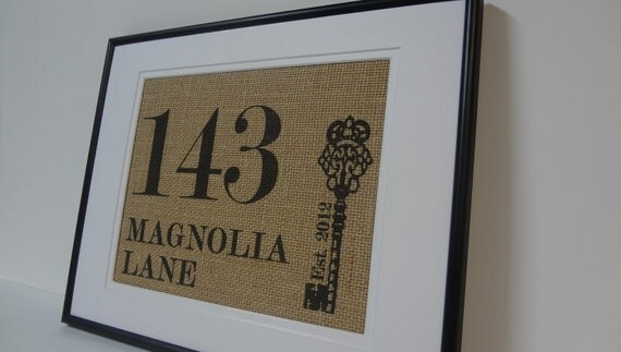 Personalized Housewarming, Engagement, Wedding or Anniversary gift
