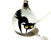 SALE Halloween Black Cat Pendant for Necklace - CaughtREDhanded