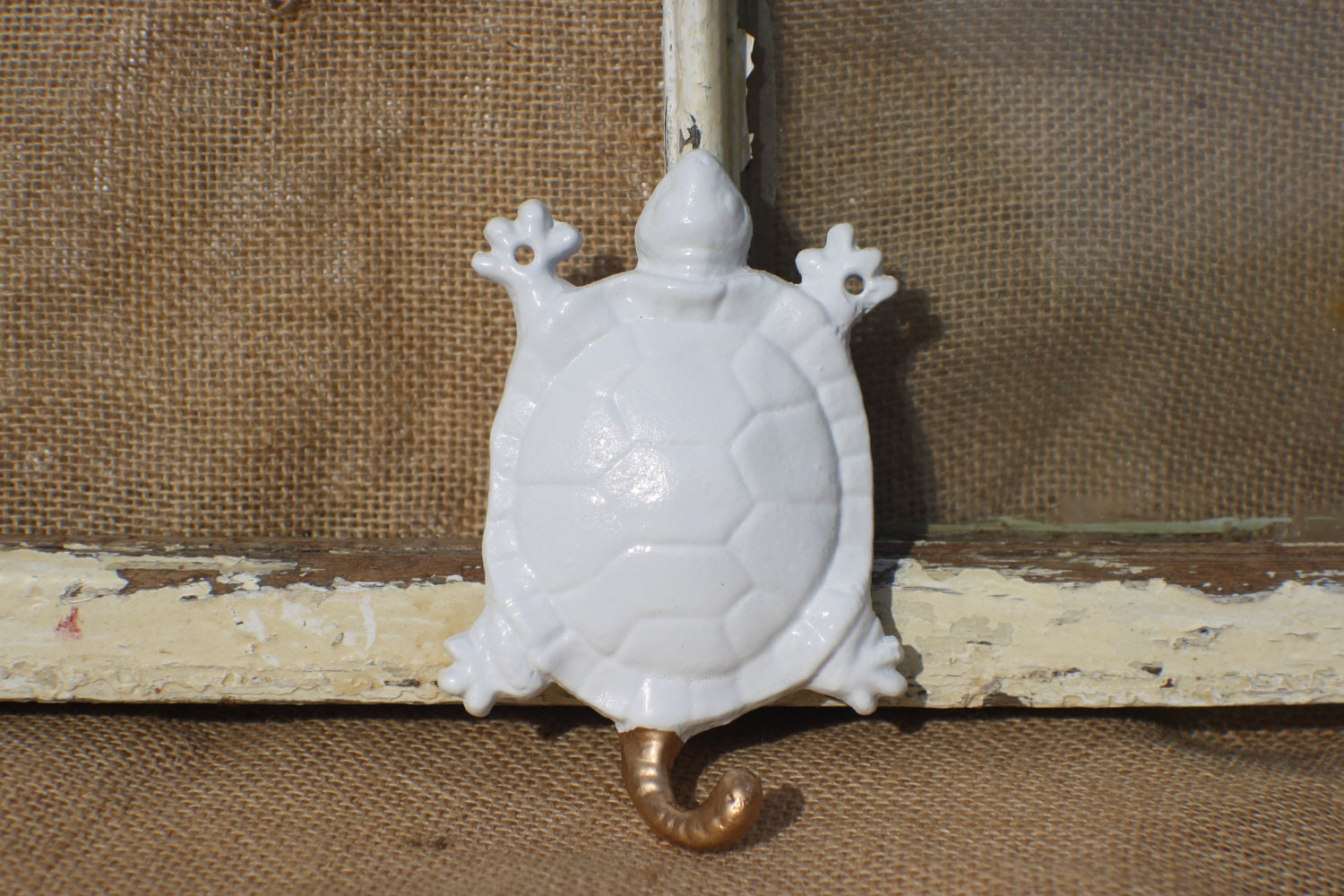 Wall Decor Hook/ Turtle Water Animals/ by MichelleLisaTreasure