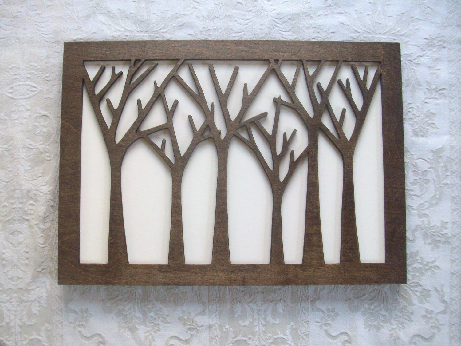 Tree Forest Wood Wall Decor Art by elwoodworks on Etsy