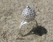 Prickly Fruit Silver Fulani Style Ring