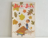 Vintage 1950s Childrens Magazine Jack and Jill Fall Leaves - ismoyo