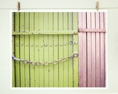 Pink and Green photograph - Fine Art Photography print - celery pale green pastel pink - industrial city urban modern art - Compatible - LupenGrainne