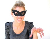 Cat Eye Black Mask Sexy Adult Halloween Costume Cat Women Masquerade - joyfulgabby