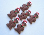 6 Gingerbread Men Sewing Buttons