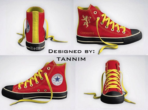 Custom Game of Thrones: House Lannister Converse Chucks