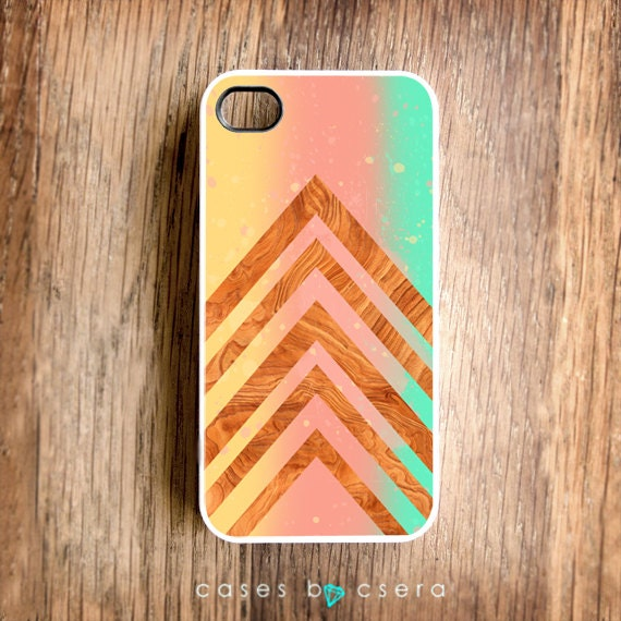 Pastel iPhone 4 Case Paint Wood iPhone 4 Case Geometric Modern iPhone 4S Case iPhone 4S Case Fall Color Trend iPhone Cover