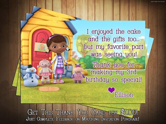 Novel Concept Designs Doc Mcstuffins Birthday Invitation And Thank