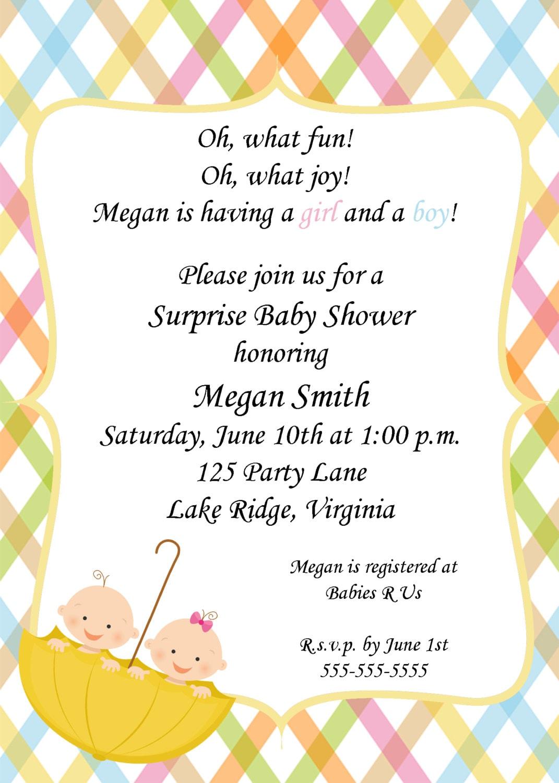 Twin Boys Baby Shower Invitations as amazing invitation example