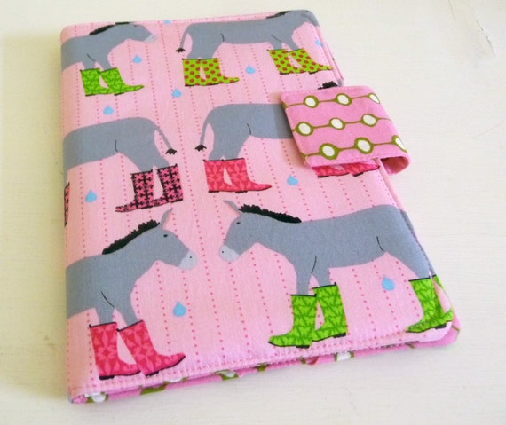 Nook HD Cover, Pink Donkeys Wearing Rain Boots