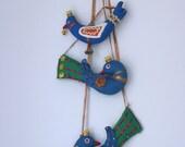 Vintage fabric birdy ornaments - fuzzymama