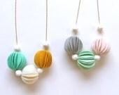 Kuru Maru Felt Ball Necklace - HOMAKO