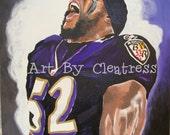 Ray Lewis Baltimore Ravens - ArtbyCleatress