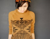 Xochitl - Unisex Sweatshirt in Camel and Black - by Bark Decor