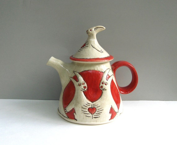 Conjoined Rabbits Teapot
