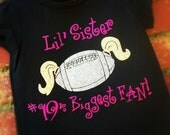 little sister football custom shirt