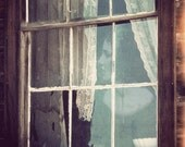 "Ghostly Window Photo ""Curtain Lace Ghost"" Tattered Lace Curtain - Fairy Tale Art - Haunted Photograph"