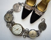 Vintage Watches Future Heirloom Wedding Day Bracelet With Lucky Silver Sixpences Handmade By Recycloanalyst