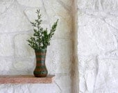 Brown and Green Vase / made to order / Neutral Home Decor / dark brown vase / autumn home decor - CarriageOakCottage