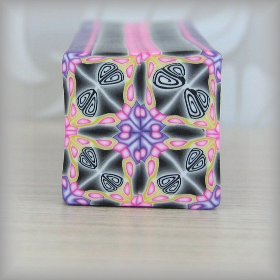 RAW Polymer Clay Kaleidoscope Cane Bright No. 130