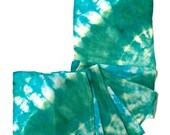 Silk Scarf Dyed Green Teal - SilkMari