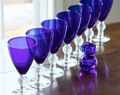 Morgantown ritz blue stemware set of 7 - TheGinghamOwl
