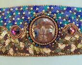 Moonrise Bead Embroidered Cuff Bracelet EBWC - beadn4fun