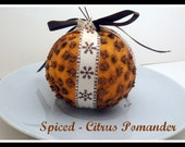 Winter Spiced Citrus Pomander- Holiday Scented Ornament