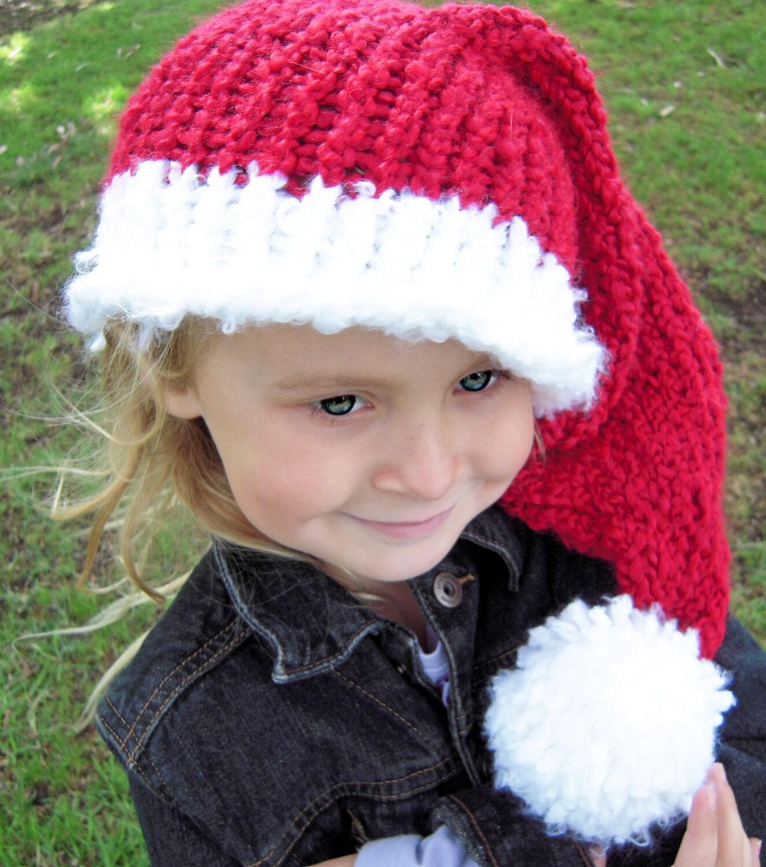 Free Santa Knitting Pattern Free Santa Hat Knitting